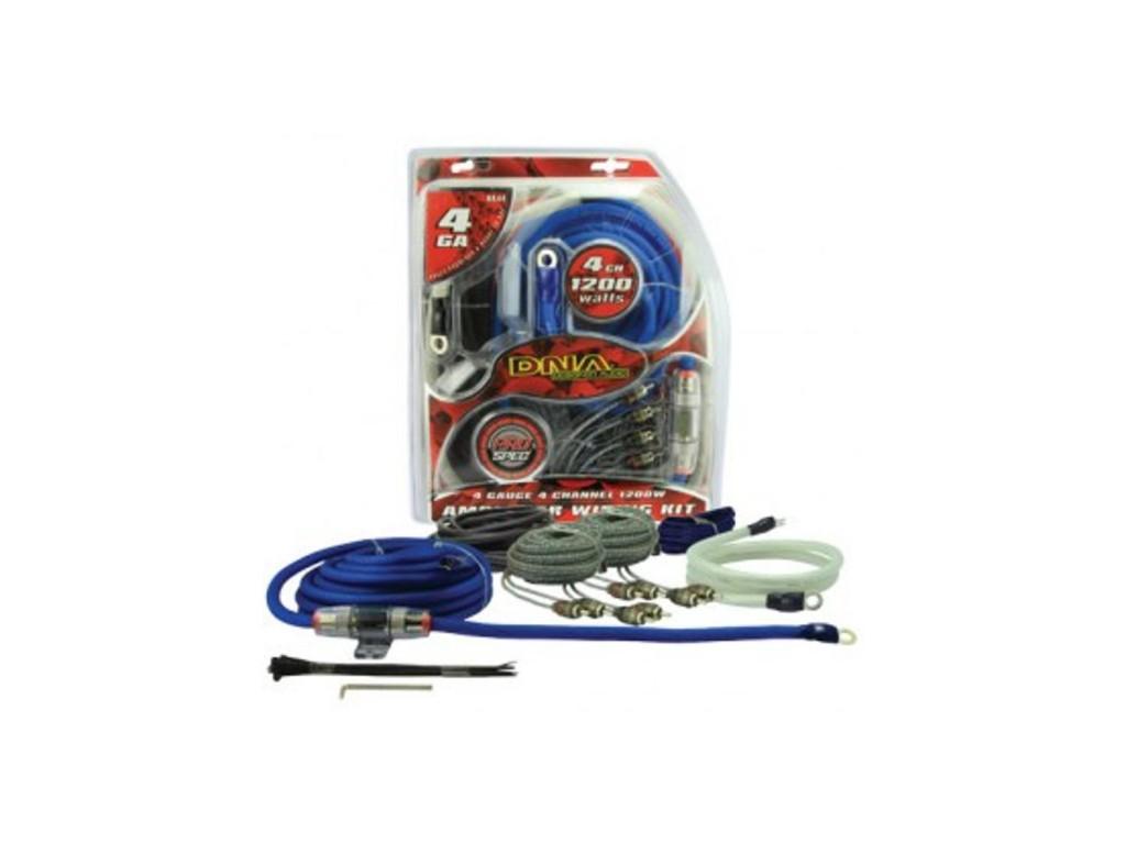 DNA 4 Channel 1200W amp wiring kit online
