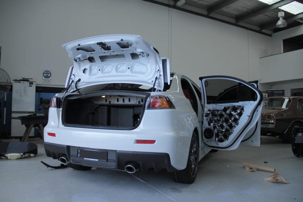 Mitsubishi Lancer Evolution X Car Audio Fitout 1